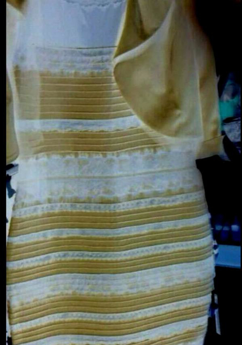 Какого на самом деле цвета платье синее или белое