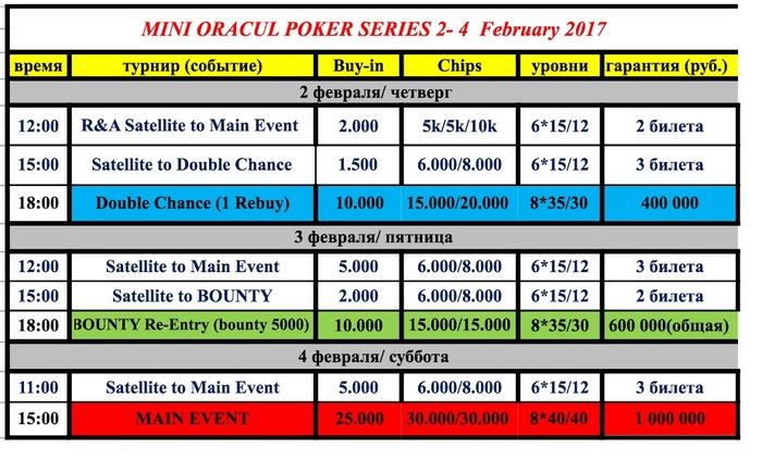 оракул казино покер турниры расписание