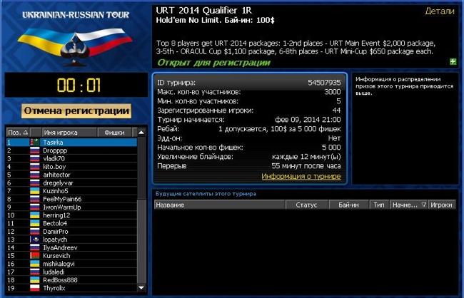 Лобби URT 2014 Qualifier